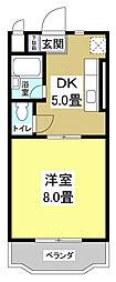 リバティハイツ[1階]の間取り