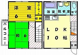 ユタカハイツ 壱番館[2階]の間取り