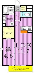 メルヴェーユ三郷中央[D302号室]の間取り