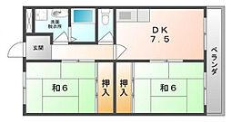 メモリー近藤[3階]の間取り