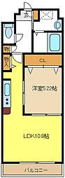 愛知県名古屋市緑区乗鞍2丁目の賃貸マンションの間取り