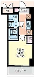 エルスタンザ大口[2階]の間取り