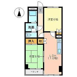 リバーサイドハウス[4階]の間取り