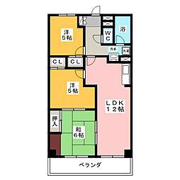 セレーナ香[2階]の間取り