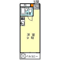 ハイムニシキ[2D号室]の間取り