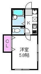 オネスティ松戸[102号室号室]の間取り