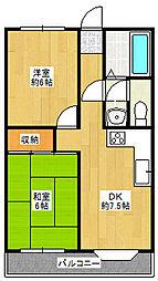 兵庫県神戸市北区道場町日下部の賃貸マンションの間取り