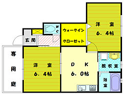 シエルクレールA[1階]の間取り