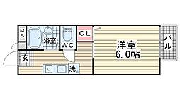 ヴィブレ魚崎北町[203号室]の間取り
