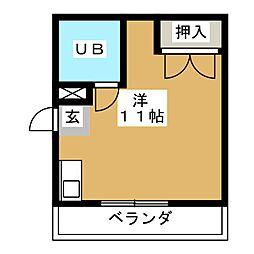 コーポアリオン[2階]の間取り