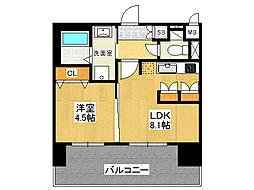 ミリオンコンフォート新今里[2階]の間取り