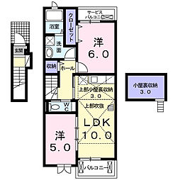 神奈川県横浜市瀬谷区相沢6丁目の賃貸アパートの間取り