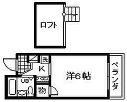 ウエストコート[2階]の間取り