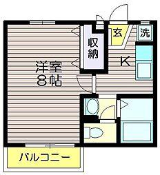 クオーレKM[1階]の間取り