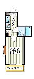 コーポ姫宮[3階]の間取り