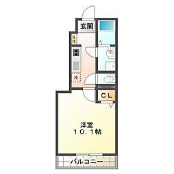 ビバJ・N・S[1階]の間取り