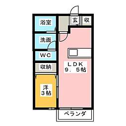 ルミナス B[1階]の間取り