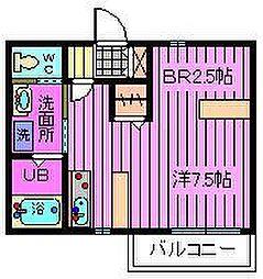 埼玉県戸田市上戸田3丁目の賃貸アパートの間取り