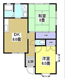 [タウンハウス] 静岡県袋井市下山梨 の賃貸【/】の間取り