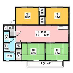 セジュール234[2階]の間取り