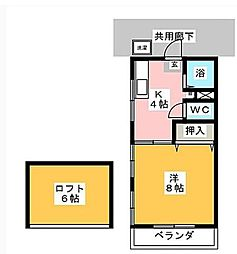 小川二葉B[1階]の間取り