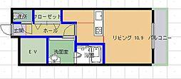 コヒリノ春日坂[306号室]の間取り