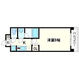 パークフラッツ江坂[2階]の間取り