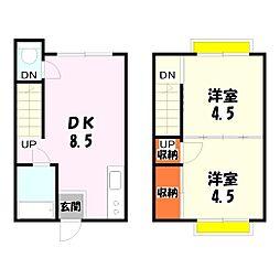 つぼた荘[105号室]の間取り