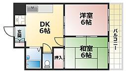 ピアッツァRokko[4階]の間取り