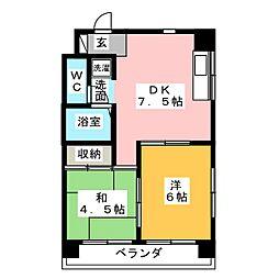 前田ハイツ[5階]の間取り