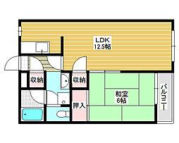 ジーフラット堺[2階]の間取り