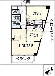 コンフォール和合[2階]の間取り