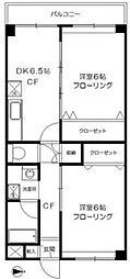 桜上水マンション[402号室号室]の間取り