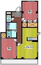 フェデラル[2階]の間取り