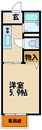 ハイツ子午線[1階]の間取り