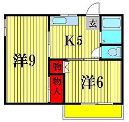 ハイツミヤタ[1階]の間取り