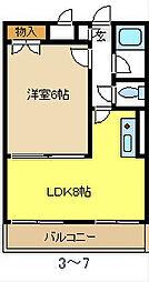 愛知県名古屋市天白区植田本町3丁目の賃貸アパートの間取り