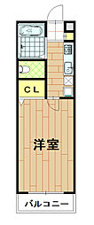 神奈川県川崎市中原区上小田中3丁目の賃貸アパートの間取り