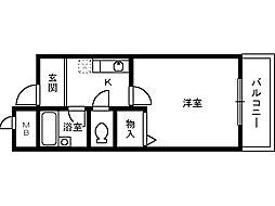 サンヴィラティー[2階]の間取り