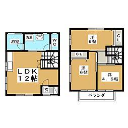 ハイマート増田II[1階]の間取り