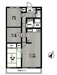 ローズ小谷田マンション[3階]の間取り
