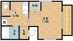 静岡県浜松市浜北区貴布祢の賃貸アパートの間取り