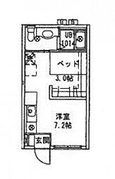 広島県広島市西区草津東3丁目の賃貸アパートの間取り
