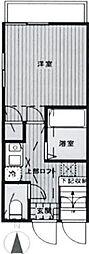 東京都中野区江古田3丁目の賃貸アパートの間取り