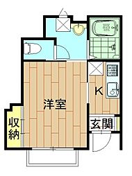 神奈川県川崎市中原区新城1丁目の賃貸アパートの間取り