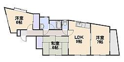 サニーコート小平[3階]の間取り