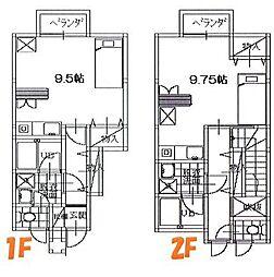 メゾンM[1E号室]の間取り