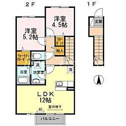 花水木B棟[2階]の間取り