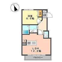 仮称北小岩1丁目新築アパート[202号室]の間取り