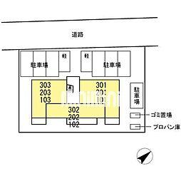 D−room東田中[2階]の外観